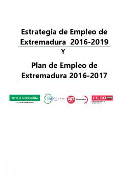 Estrategia y plan empleo Extremadura 2016-17