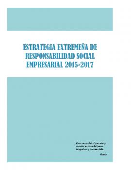 Estrategia extremeña de Responsabilidad social empresarial 2015-2017